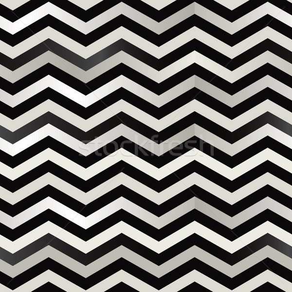 The twin black and white zigzag stripes floor. (Retro background). Stock photo © Glasaigh