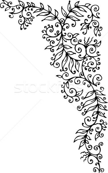 Floral decorativo textura eps8 projeto beleza Foto stock © Glasaigh