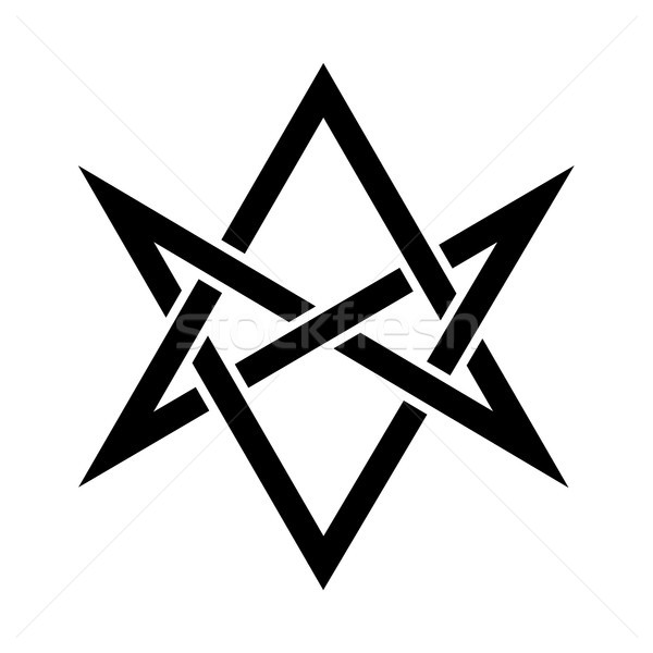 The Horns of Asmodeus (mystical unicursal hexagram) Stock photo © Glasaigh