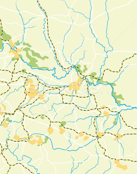 Vecteur carte pays couleur fond terre Photo stock © Glasaigh