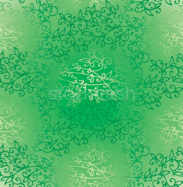 Floral Green Verdure Springtime seamless pattern Stock photo © Glasaigh