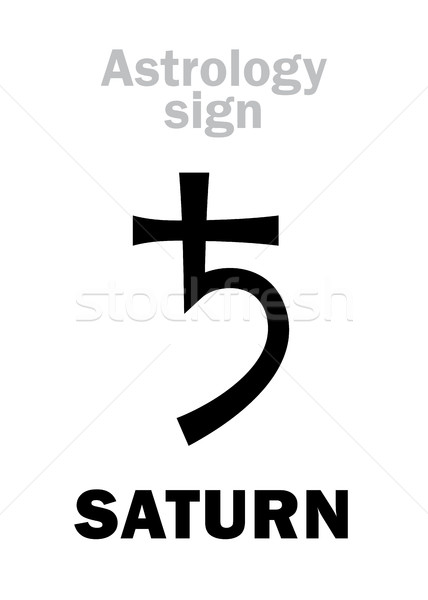 Astrology: planet SATURN Stock photo © Glasaigh