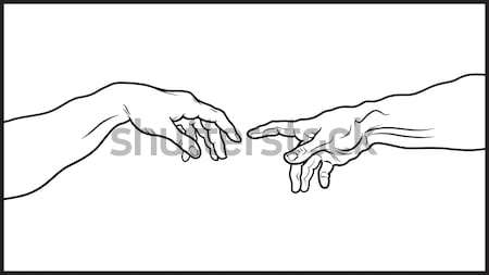 The Creation of Adam. Fragment (Outline vesion) Stock photo © Glasaigh
