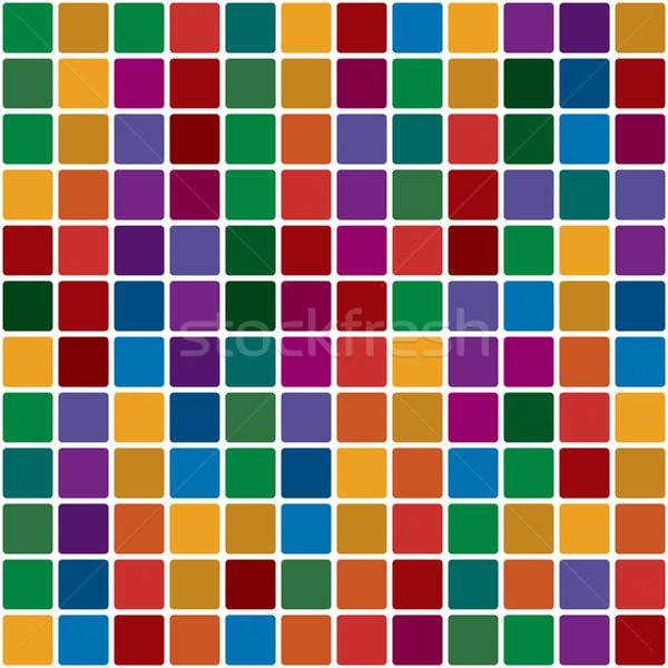 Mosaico cor brilhante decorativo fundo vermelho Foto stock © Glasaigh