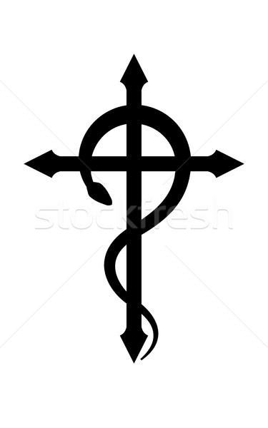 CRUX SERPENTINES (The Serpent Cross) Stock photo © Glasaigh