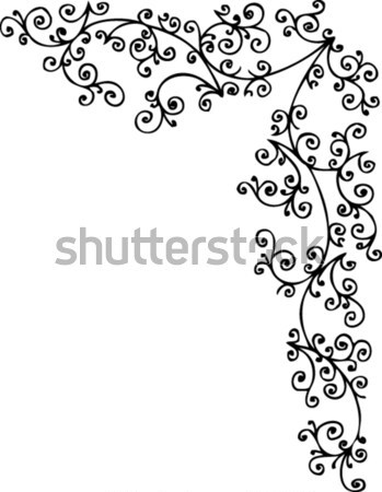 Foto stock: Refinado · floral · decorativo · textura · eps8 · projeto
