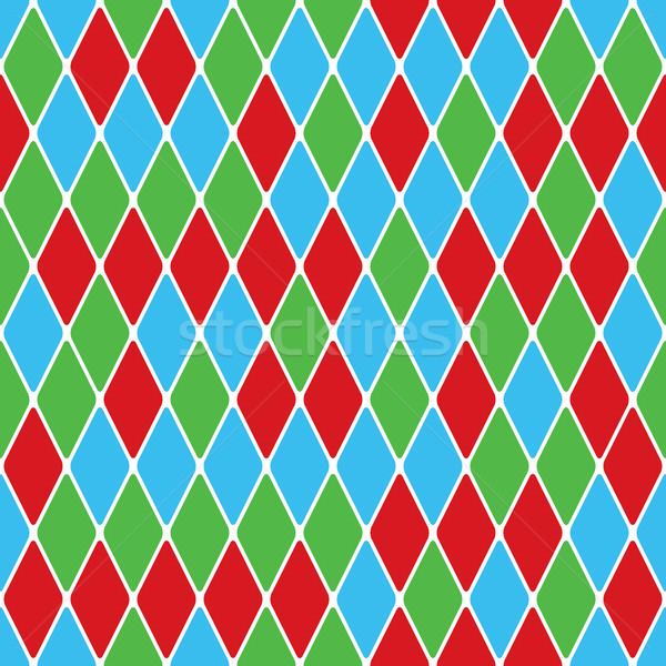 Harlequin parti-coloured seamless pattern 5.0 Stock photo © Glasaigh