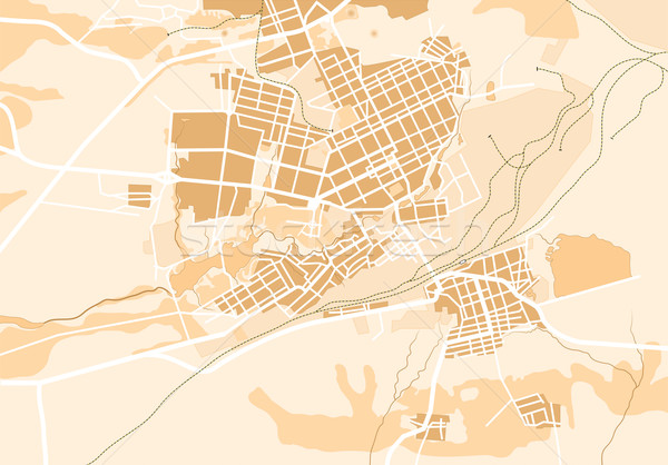 Vector Map of The City II Stock photo © Glasaigh