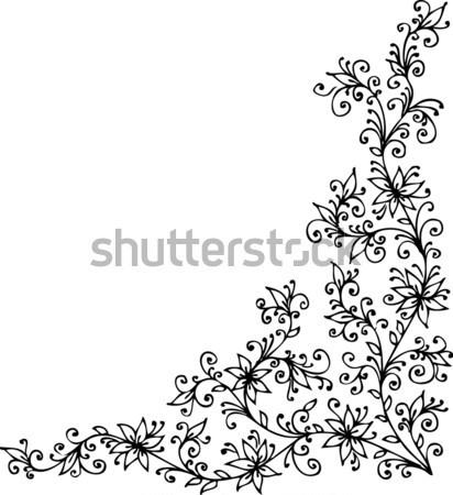 Floral décoratif texture eps8 design beauté Photo stock © Glasaigh