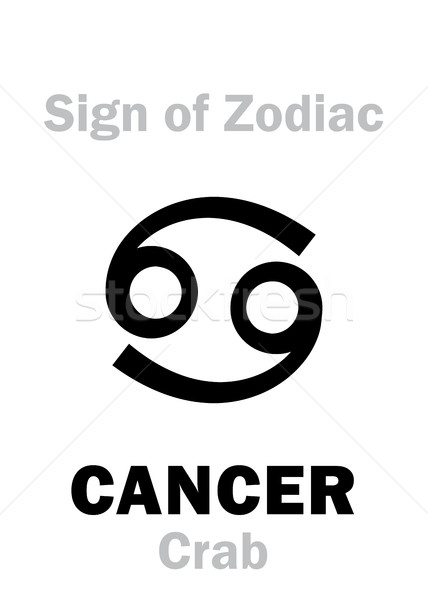 Astrology: Sign of Zodiac CANCER (The Crab) Stock photo © Glasaigh