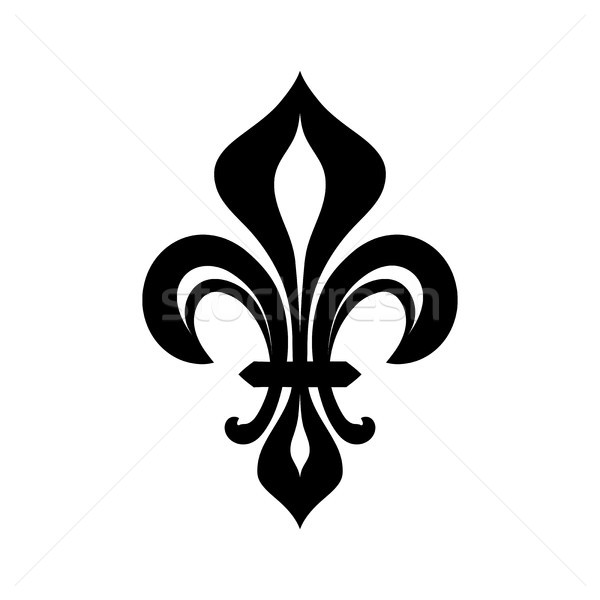 Fleur-de-lys (Flower de luce), Royal heraldic Lily. Stock photo © Glasaigh