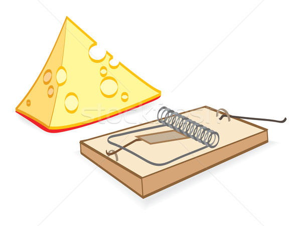 Cheese And Mousetrap Cartoon Stock photo © Glasaigh