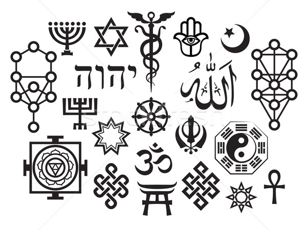 Oriental Sacral Religious Symbols Stock photo © Glasaigh