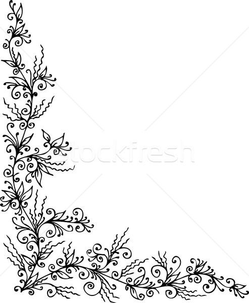 Floral vignette CCCLXXXIV Stock photo © Glasaigh