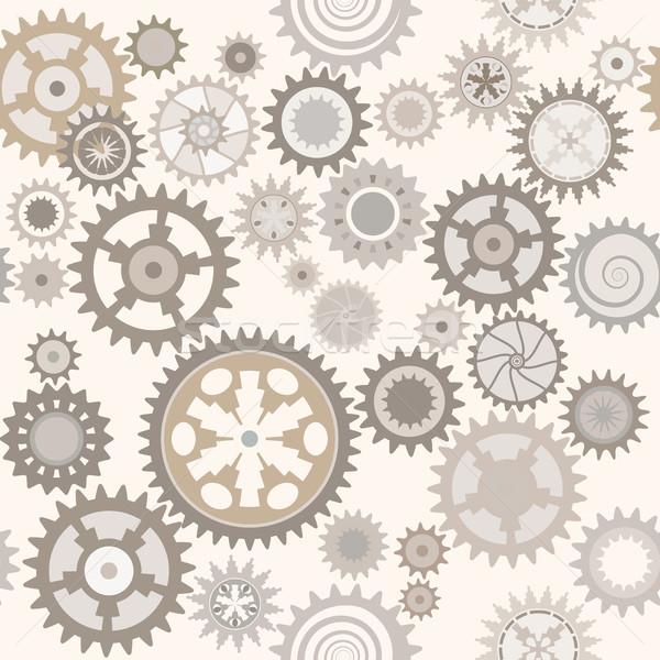Relógio engrenagens retro pálido textura Foto stock © Glasaigh