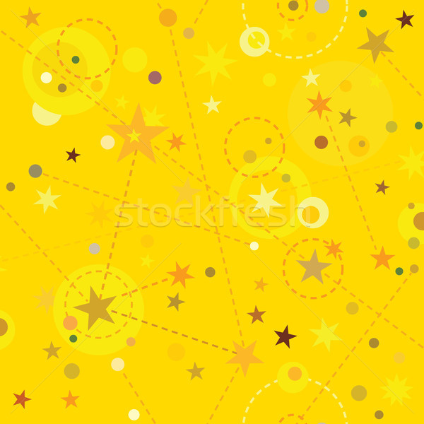 Golden Stars seamless pattern swatch tile background Stock photo © Glasaigh