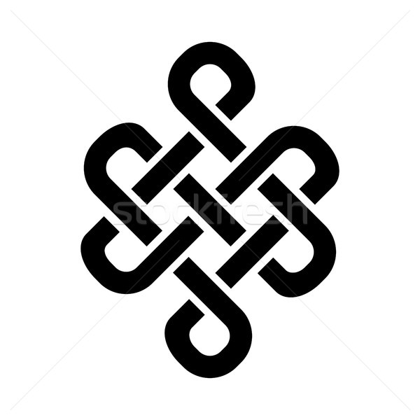 Stock photo: Guts of Buddha (The Eternal knot) — symbol of inseparability of existence in the Universe.