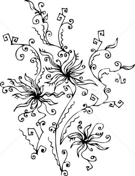 14 floral refinado eps8 quadro beleza Foto stock © Glasaigh