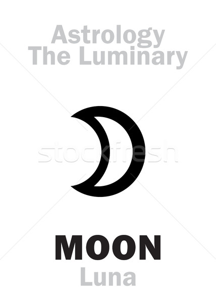 Astrology: Luminary MOON (Luna) Stock photo © Glasaigh