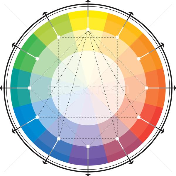 Harmonisch steeg regenboog kleur citroen salade Stockfoto © Glasaigh