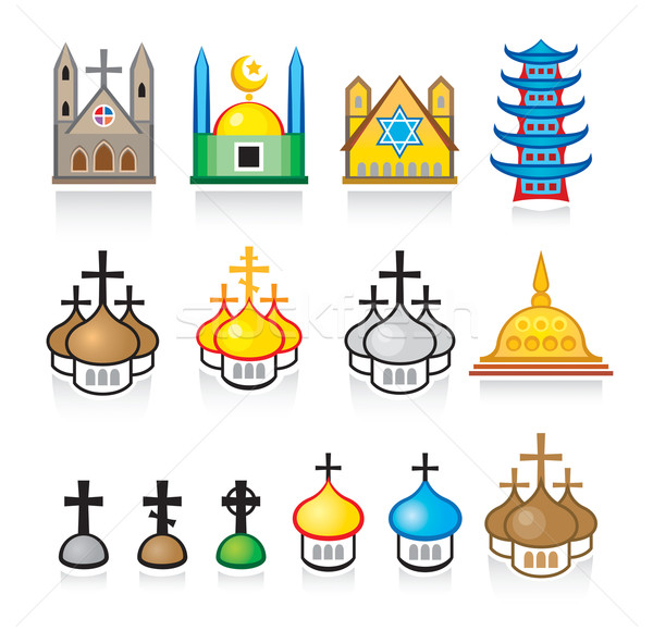 Religiosas culto vector establecer eps8 Foto stock © Glasaigh