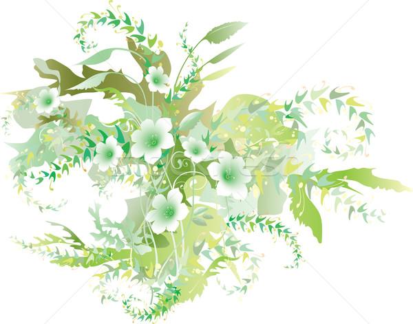Floral cor brilhante decorativo luz folha Foto stock © Glasaigh