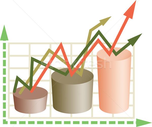 Negócio diagrama cor brilhante decorativo assinar Foto stock © Glasaigh