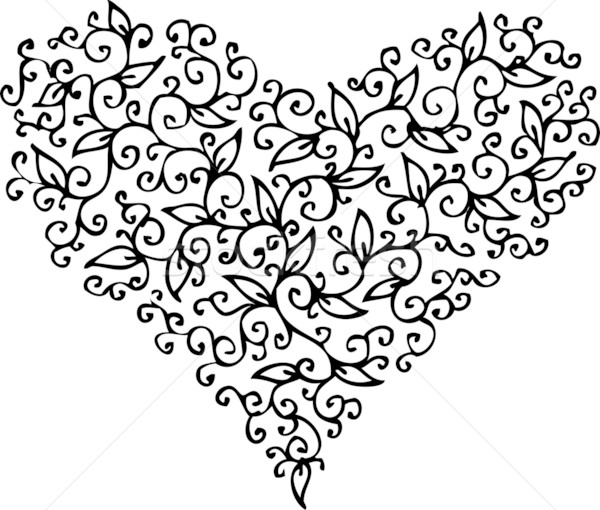Stock photo: Romantic Heart vignette CXXXIII