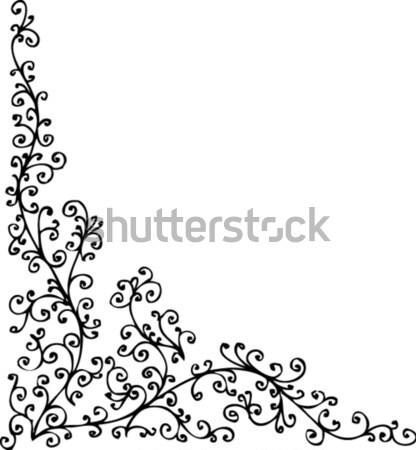 Floral ornamento decorativo padrão eps8 textura Foto stock © Glasaigh