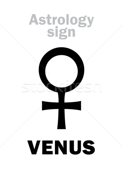 Astrology: planet VENUS (female) Stock photo © Glasaigh