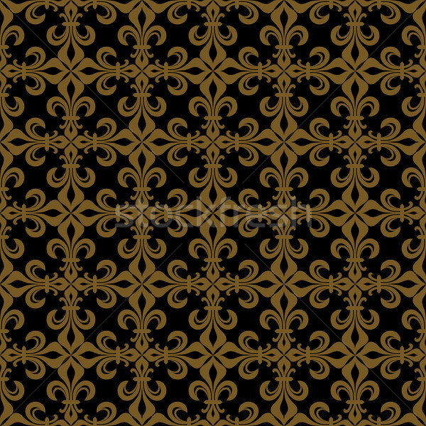 Lace-de-Luce (Lace of Lilies), Rich bronze seamless pattern Stock photo © Glasaigh