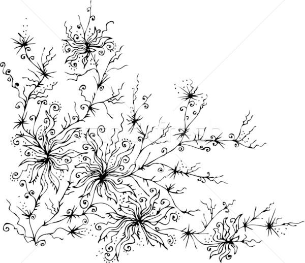 Les Fleurs du mal. Eau-forte IX Stock photo © Glasaigh