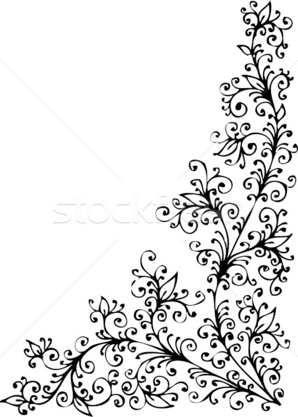 Baroque Pattern vignette XCV Stock photo © Glasaigh
