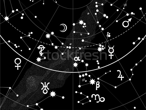 Astronomical Celestial Atlas (Fragment) Stock photo © Glasaigh