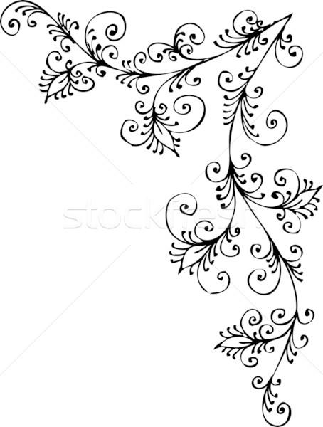 Barok model dekoratif eps8 çerçeve güzellik Stok fotoğraf © Glasaigh