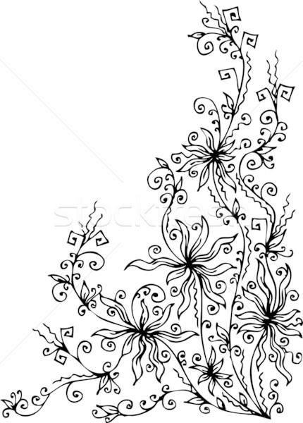 Les Fleurs du mal. Eau-forte XVIII Stock photo © Glasaigh