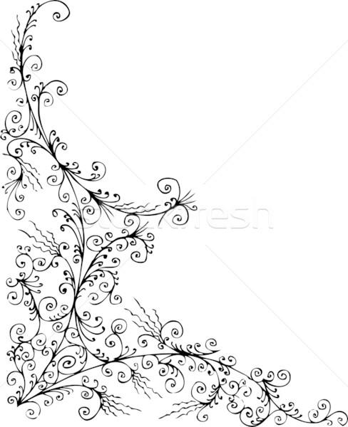 Baroque congelés décoratif modèle eps8 design Photo stock © Glasaigh