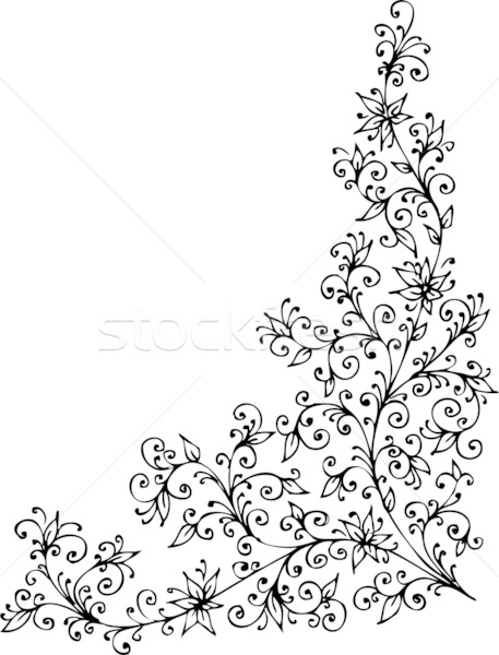Refined Floral vignette CCCXXII Stock photo © Glasaigh