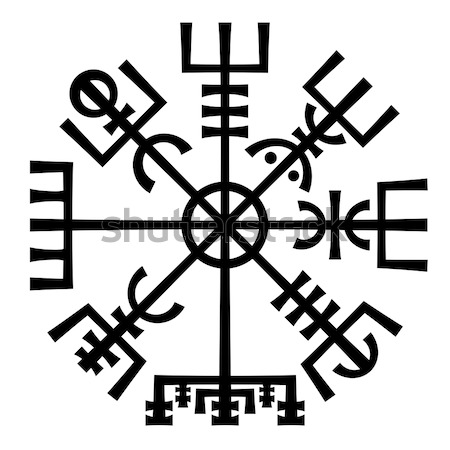 Vegvisir. The Magic Compass of Vikings. Runic Talisman. Stock photo © Glasaigh