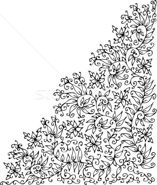 Refined Floral vignette XXIV Stock photo © Glasaigh