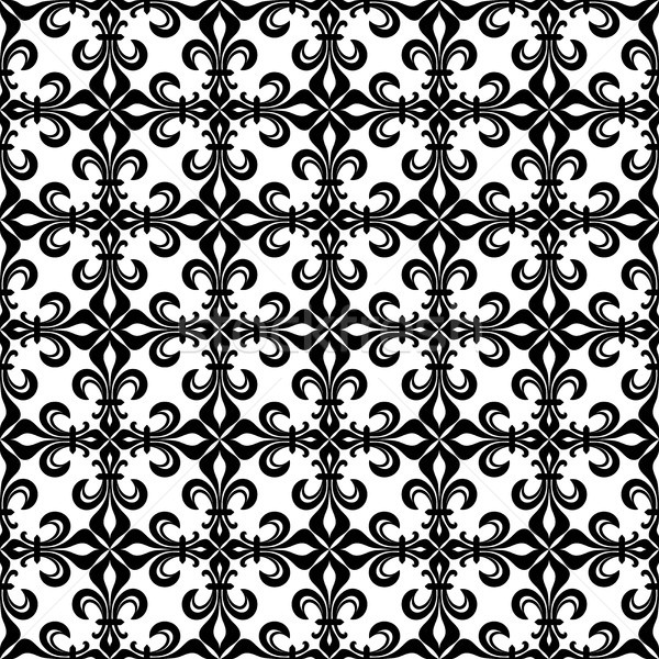 Lace-de-Luce (Lace of Lilies), delicate seamless pattern Stock photo © Glasaigh