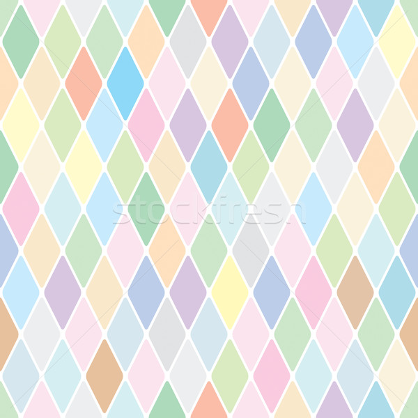 Harlequin pale diamond pattern Stock photo © Glasaigh