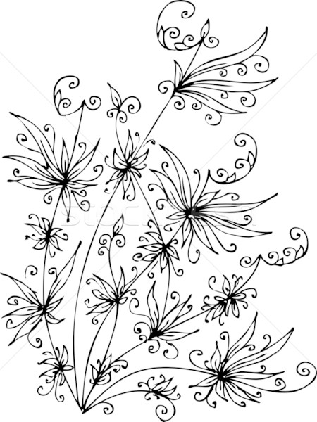 Les Fleurs du mal. Eau-forte XVII Stock photo © Glasaigh