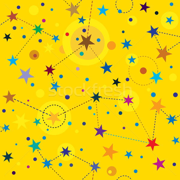 Golden Stars seamless pattern swatch background Stock photo © Glasaigh