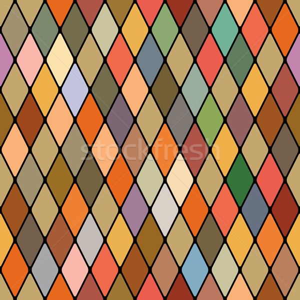 Harlequin's golden autumnal seamless pattern Stock photo © Glasaigh