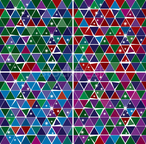 Bright Gem triangle pattern set Stock photo © Glasaigh