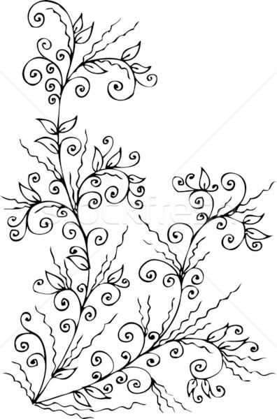 Floral vignette CCCXX Stock photo © Glasaigh