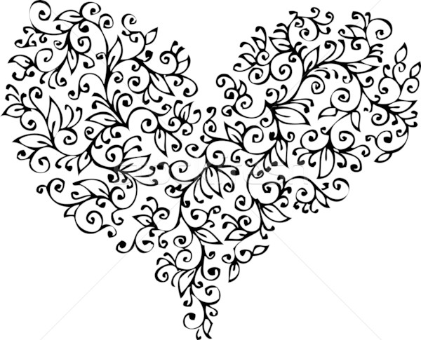 Romantic Heart vignette XVIII Stock photo © Glasaigh