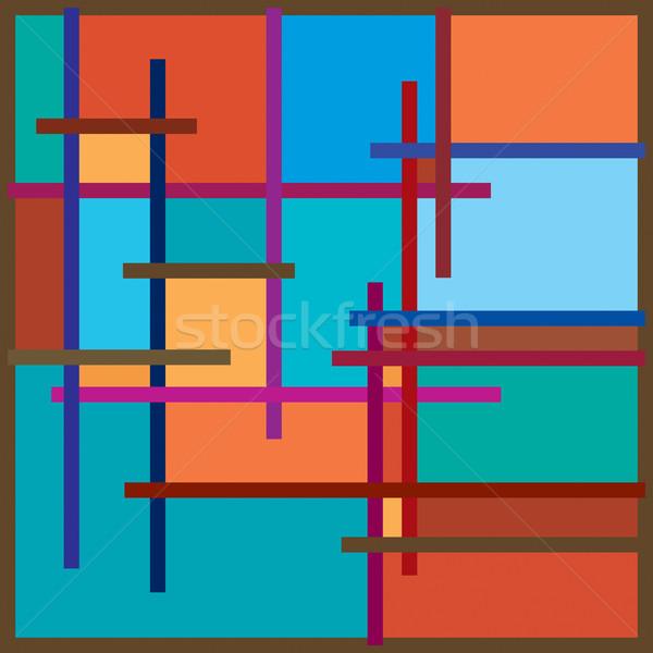 Quadro cor brilhante decorativo abstrato padrão Foto stock © Glasaigh