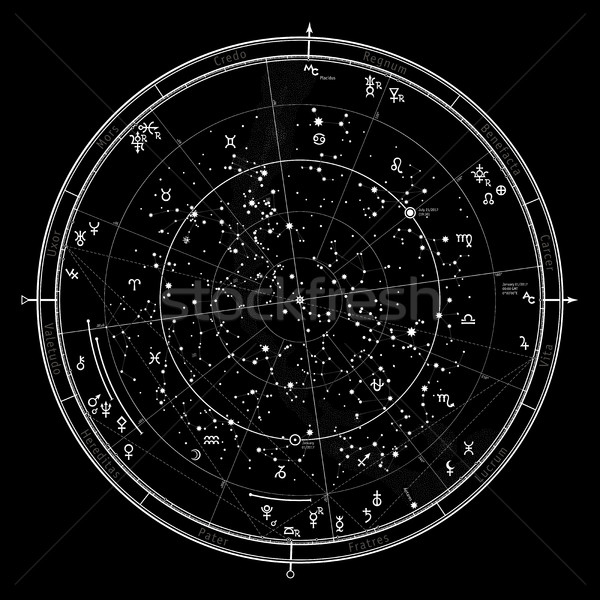 Astrological horoscope on January 1, 2017. Stock photo © Glasaigh